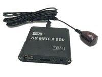 Mini HDD Palyer HDMI HD 1080 P Reproductor Multimedia del Disco Caja de TV Publicidad MKV Reproductor Multimedia Del Coche de Extensión Emisor IR Cable
