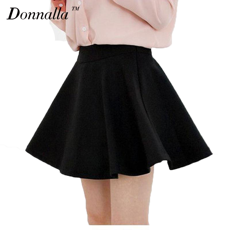 Clearance ! Women Skirt High Waist Candy Color Skirts Solid Real Photo Mini Skirt Cotton Elastic Skirts Big Sale Limited Stock!