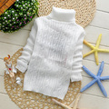 Sólido Suéter de los niños suéteres de Moda baby girl's y del muchacho del suéter de Los Niños Jerseys blanco PARA 2-6 T