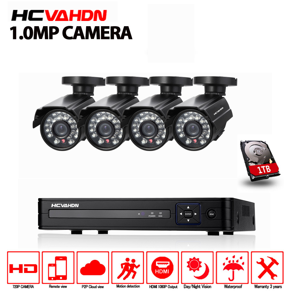 1080P HDMI DVR AHD 720P HD Outdoor Home Security Camera System 8CH CCTV Video Surveillance DVR
