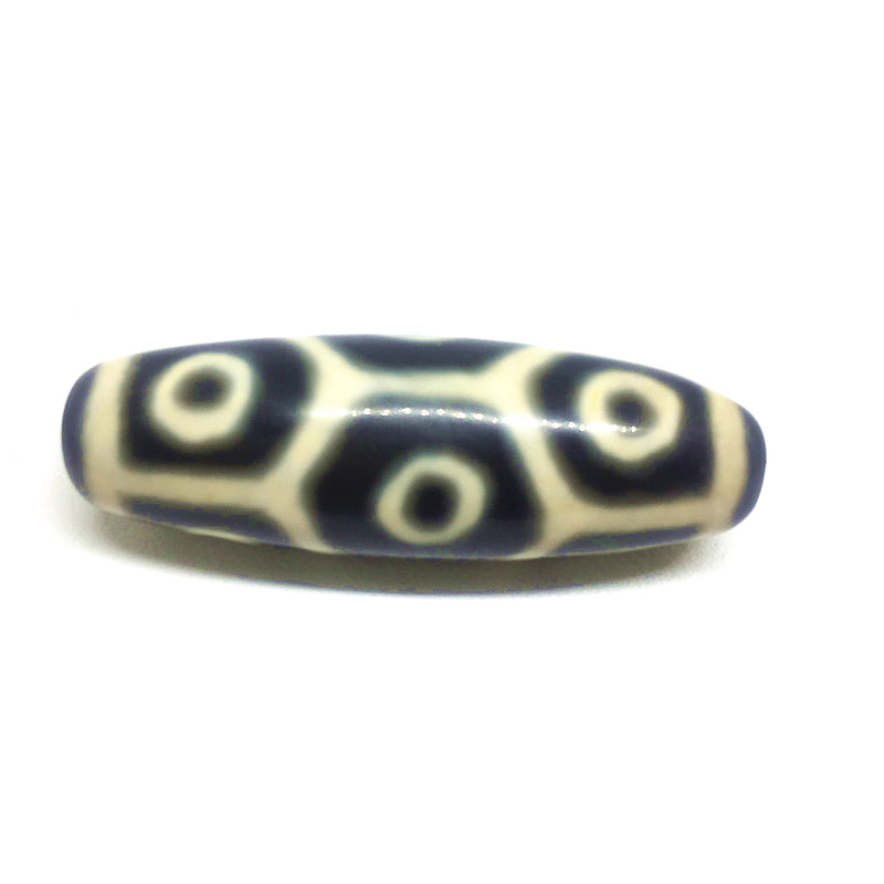 Back and White Turtle back 9 EYEs 13mm*38mm Natural Agate Amulet Tibetan Dzi Beads for Bracelet DIY Jewelry Making Free Shipping
