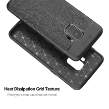 1000pcs Luxury Armor Litchi Pattern  Soft TPU Silicone Cover For Samsung Galaxy Note9 8 S9 8 Plus S7 Edge Shockproof Phone Cases