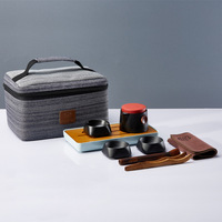 Travel tea set a pot of three cups portable tea sets travel tea sets Ceramic Kung Fu tea sets wholesale