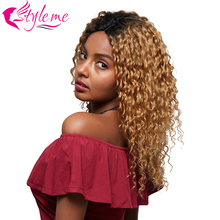 Blonde Lace Front Human Hair Wig T1B/27 Ombre Deep Wave 4*4 Closure Remy Brazilian Bob For Black Women Style me