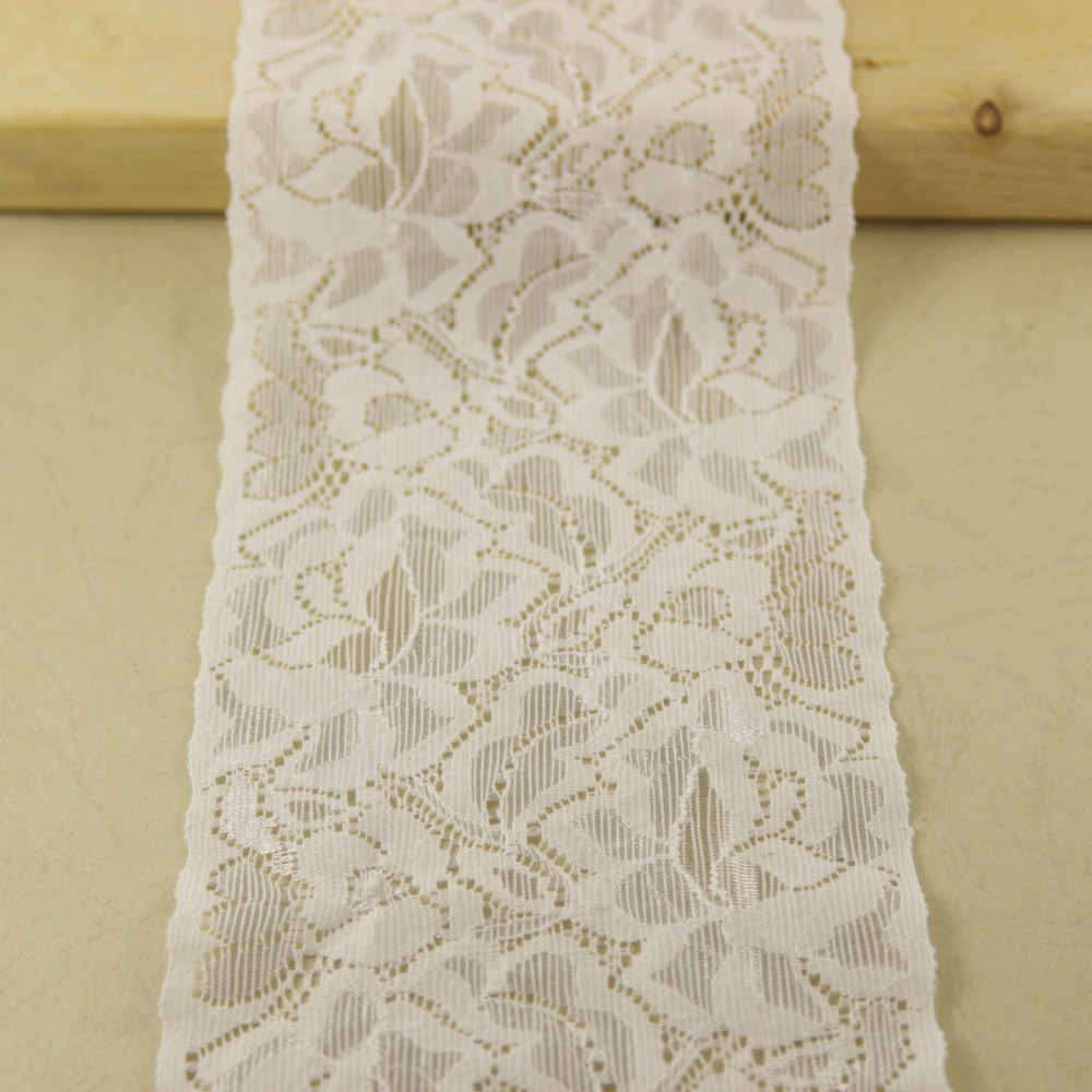 1 yards 87mm width white Elastic Stretch Lace trim sewing accessories