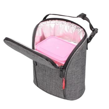 78bb166706b0 Портативный сумка для пикника Tote молоко термос сумки Мини-контейнер для  ланча охлаждение пакет льда
