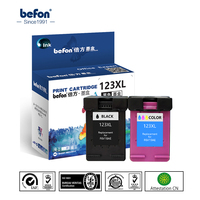 Befon Compatible 123XL Ink Cartridge Replacement For HP123 HP 123 For Deskjet 1110 2130 2132 2133