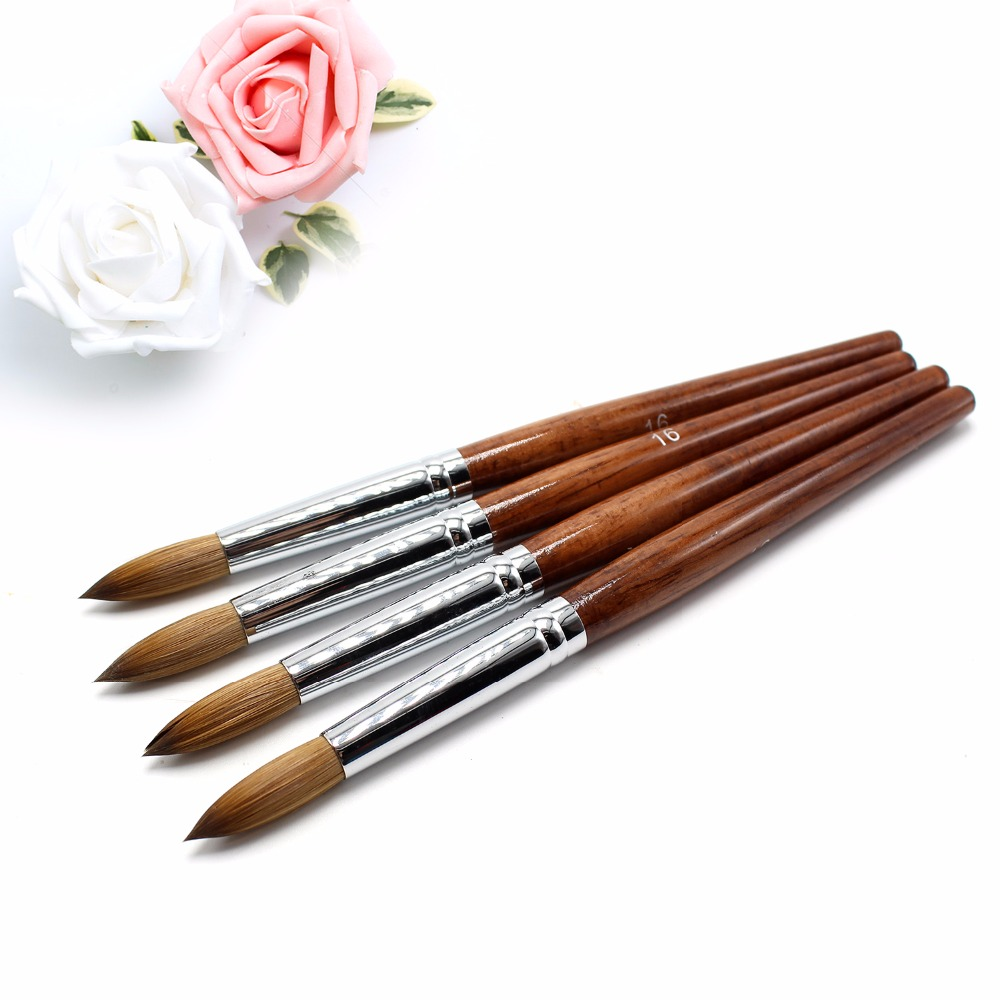 Eval Paint Brush Nail Tool 100% Pure Kolinsky Sable Nail Brush UV Gel Acrylic Art Nail Brush Kolinsky 16# 1Pcs wholesale 100pc set 100% kolinsky sable brush black nail brush for nail art size 2 acrylic brush best price color black