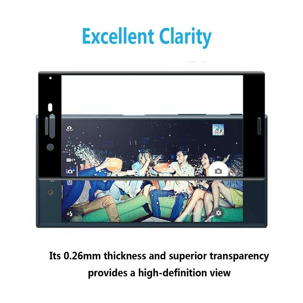 UVR 2 PCS 3D Melengkung Pelindung Layar Kaca Tempered Untuk Sony - Aksesori dan suku cadang ponsel - Foto 6