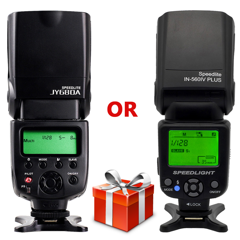 Universal Camera INSEESI IN 560 IV Plus Wireless flash OR Viltrox JY-680A Flash Speedlite with LCD Screen for Canon Nikon Pentax universal camera inseesi in 560 iv plus wireless flash or viltrox jy 680a flash speedlite with lcd screen for canon nikon pentax