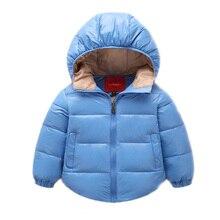2017 Новый мальчик одежда мальчик зимние куртки с капюшоном утолщаются мальчик зимние пальто белая утка вниз теплые детские зимние куртки для 2-7 Т