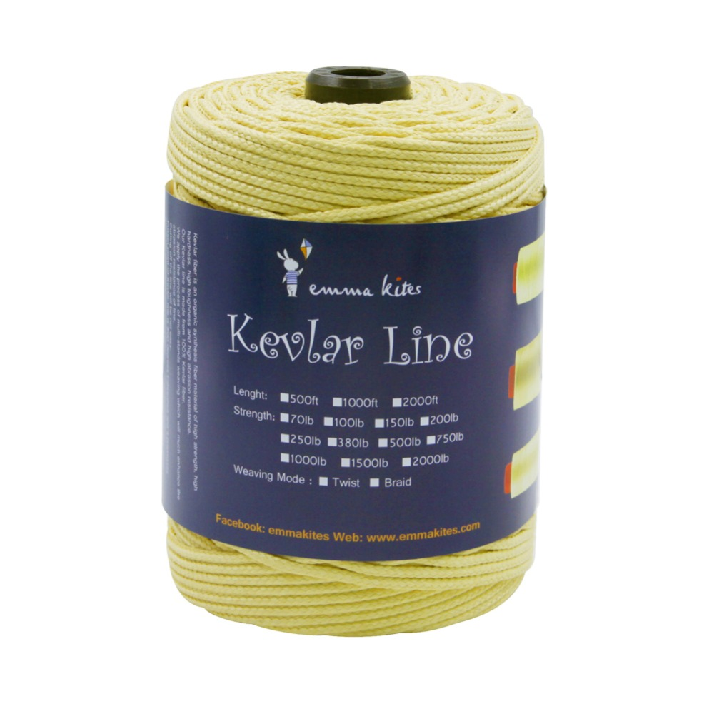 3.0mm Braided Kite String 300ft 2000lb Kevlar Line for Large Kite Flying Outdoor Fishing Line Camping Tactical Backpacking