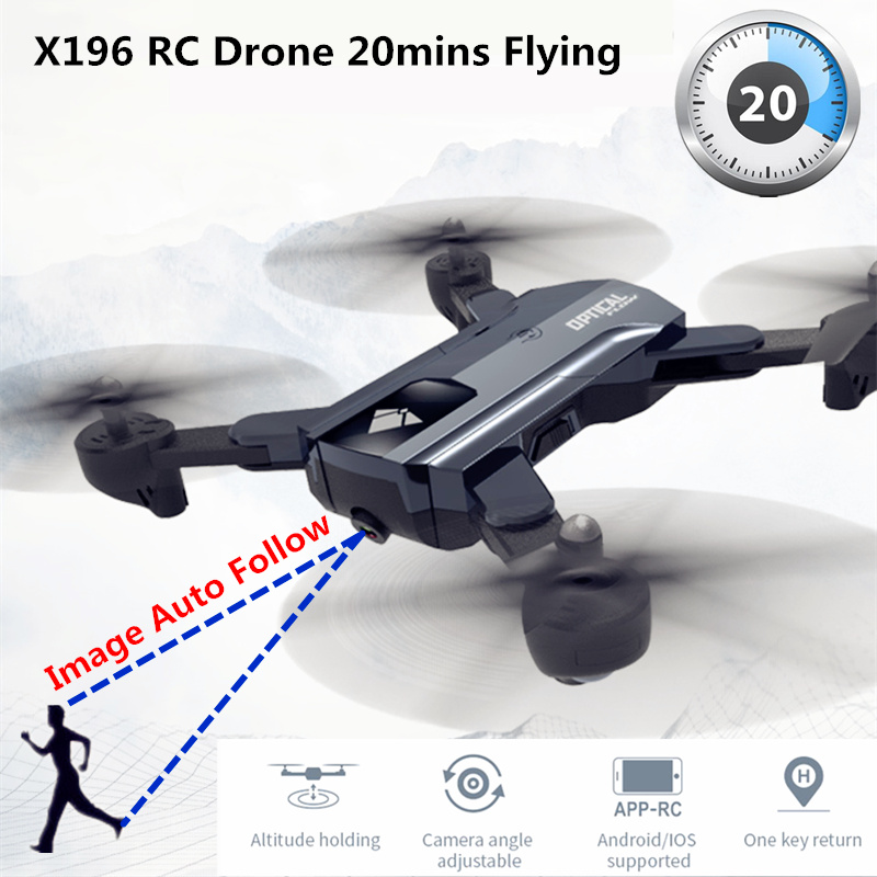 X196 HD 2MP RC Camera Drone with 20 mins Flight Time and Follow Me Function 1