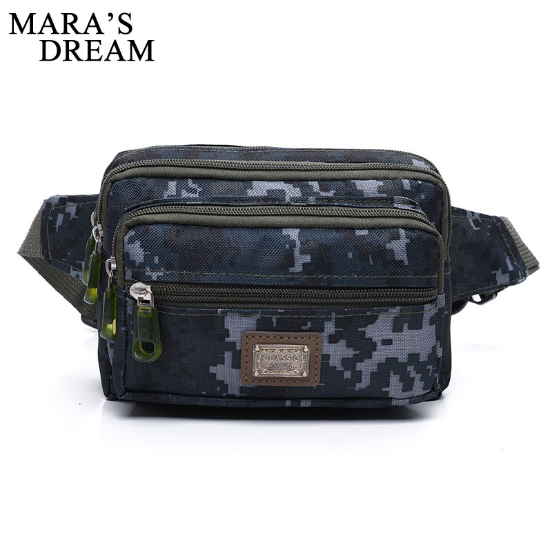 Mara's Dream High Quality Ride Travel Camouflage Waist Bag Nylon Leisure Fanny Pack Bum Bag Belt Men Mountaineering Belly Band camouflage detail bum bag