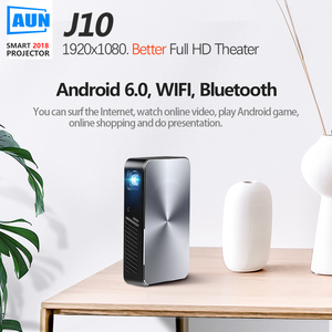 Image 2 - AUN Full HD Projector J10, 1920x1080P, Built in Android, WIFI, HD in. 6000mAH Battery,Portable MINI Projector.1080P Home Theater