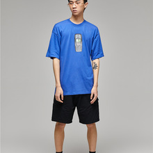 Classic old mobile phone printing short-sleeved couple t-shi
