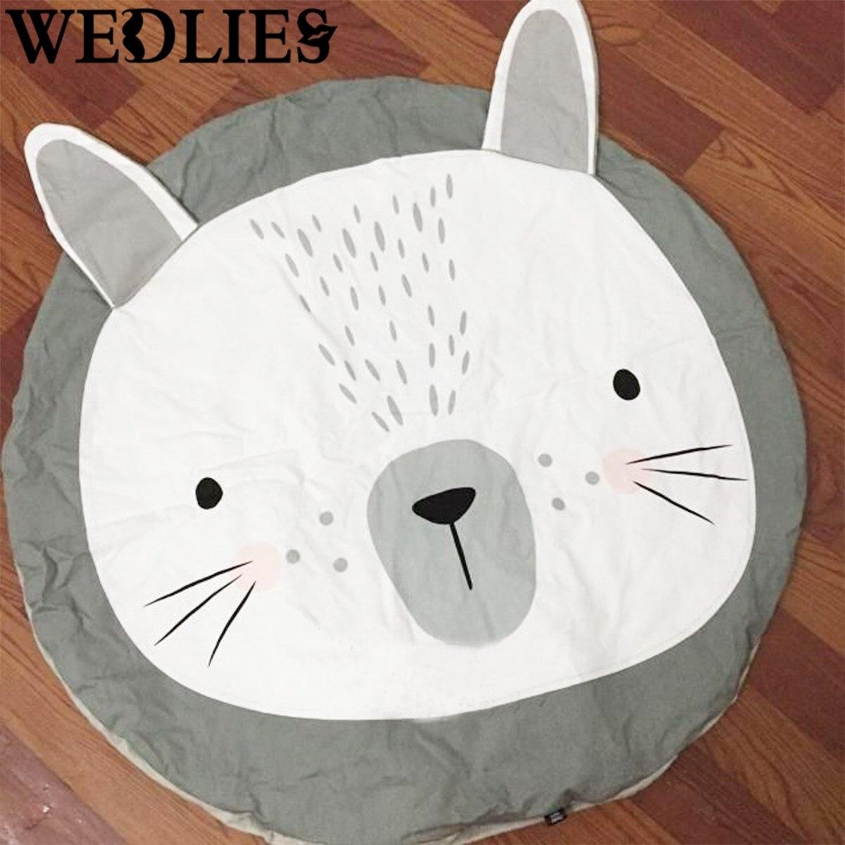 conejo encantador de la historieta redonda manta crawling carpet piso esteras del juego del beb nios habitacin decoracin jue