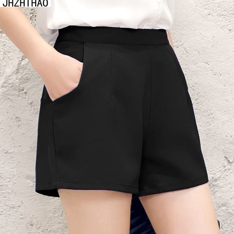 Shorts   women spring and autumn summer wide leg chiffon large size 2017 new   shorts   casual hot high waist winter suit   shorts