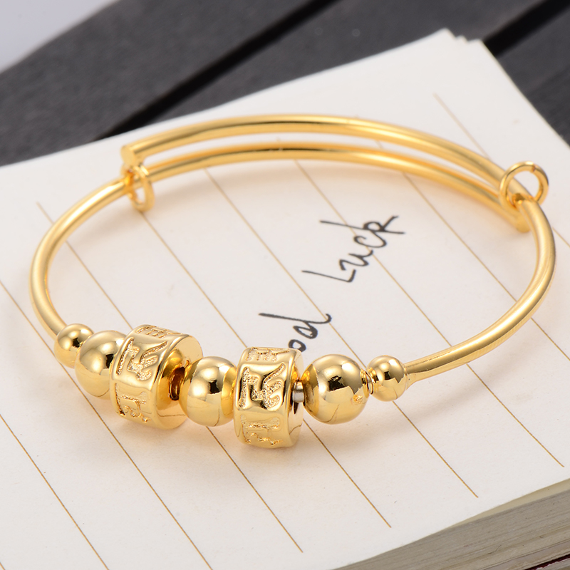 S Infant Toddler Spinner Bangle Yellow Gold Filled Children Baby Bracelet Adjule Gift Jewelry Whole Lot In Bangles From Accessories
