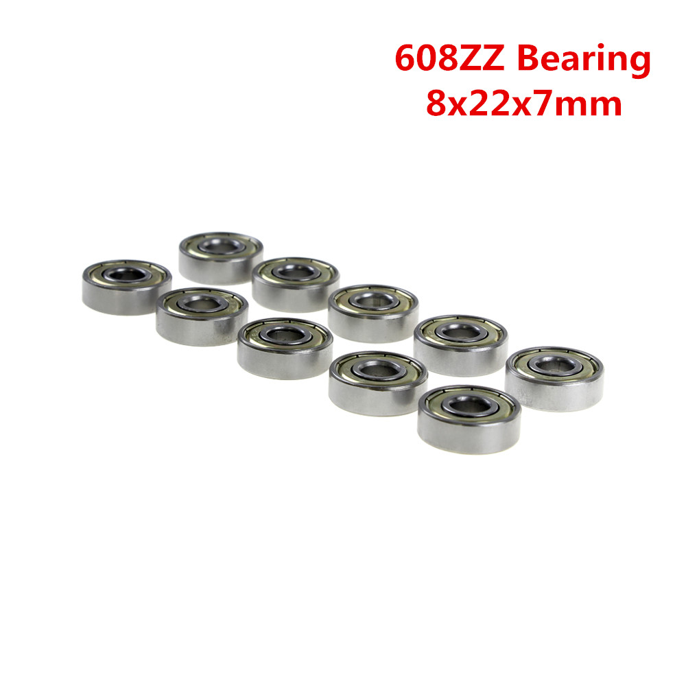 10Pcs Double Shielded Miniature High-carbon Steel Ball Bearing as 3D Printer Parts 2
