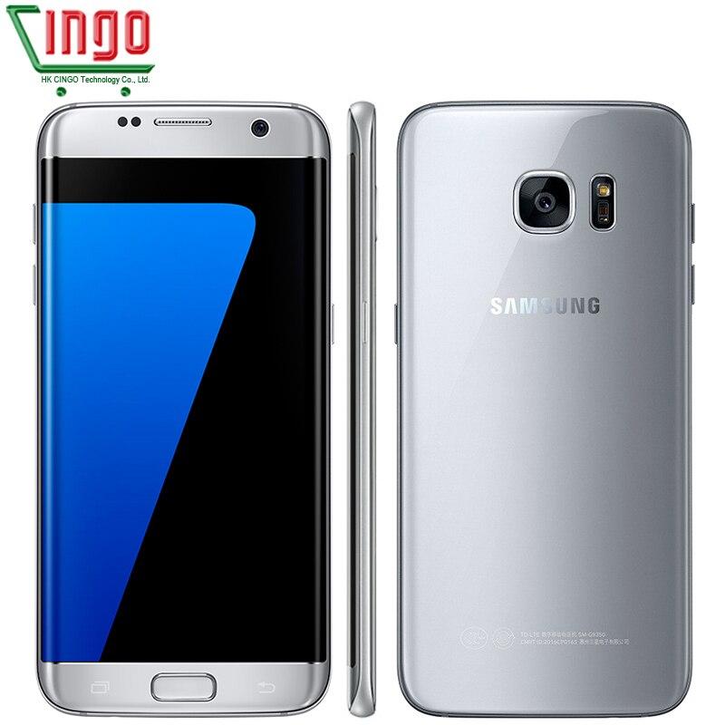 Samsung Galaxy S7 Edge 5.5 ''4GB RAM 32 GB ROM Smartphone étanche une SIM Quad Core NFC 12MP 4G LTE 3600 mAh téléphone portable