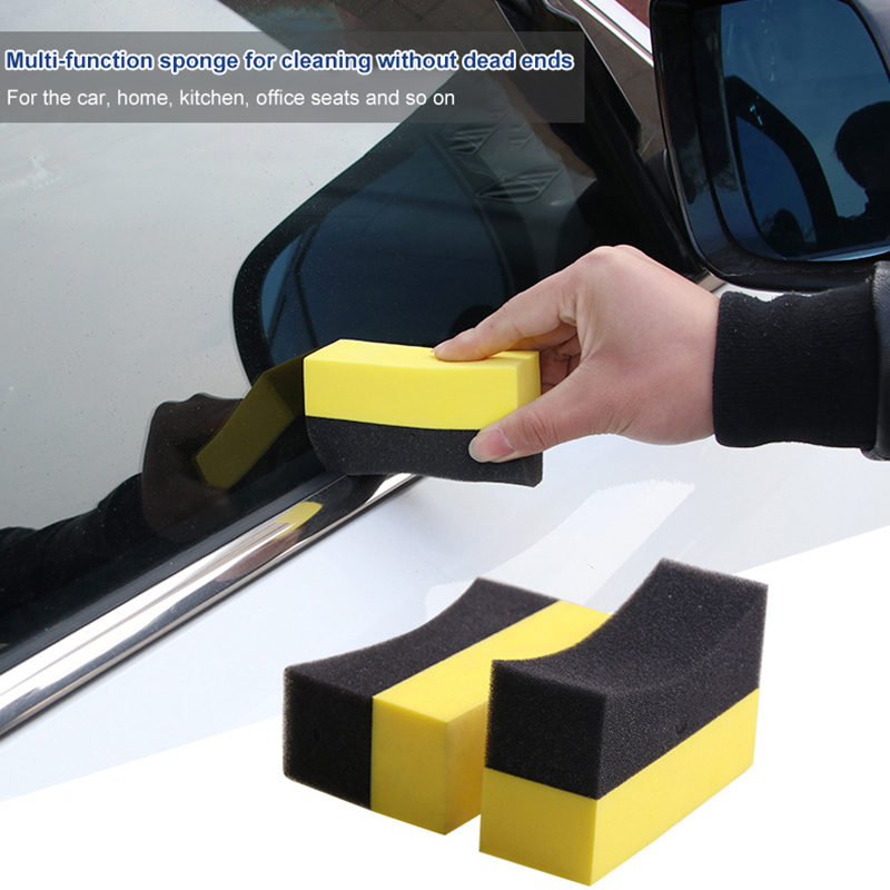 Flight Tracker Tohuu 2pcs U-shape Tire Wax Polishing Compressed Sponge Compound Arc Edge Sponge Tyre Brush Car Cleaning Sponges Auto Care Let Our Commodities Go To The World