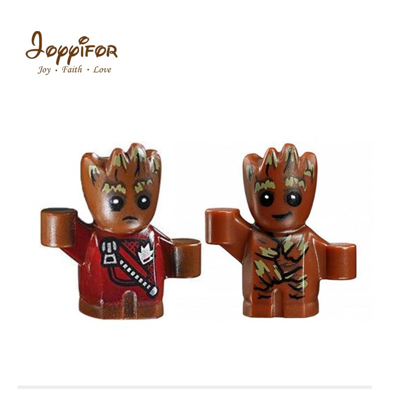 Toys & Hobbies Model Building Joyyifor 2pcs/set Super Hero Guardians Of The Galaxy Tree Man Groot Mini Figure Model Legoinglys Toys For Children Kids Cheapest Price From Our Site