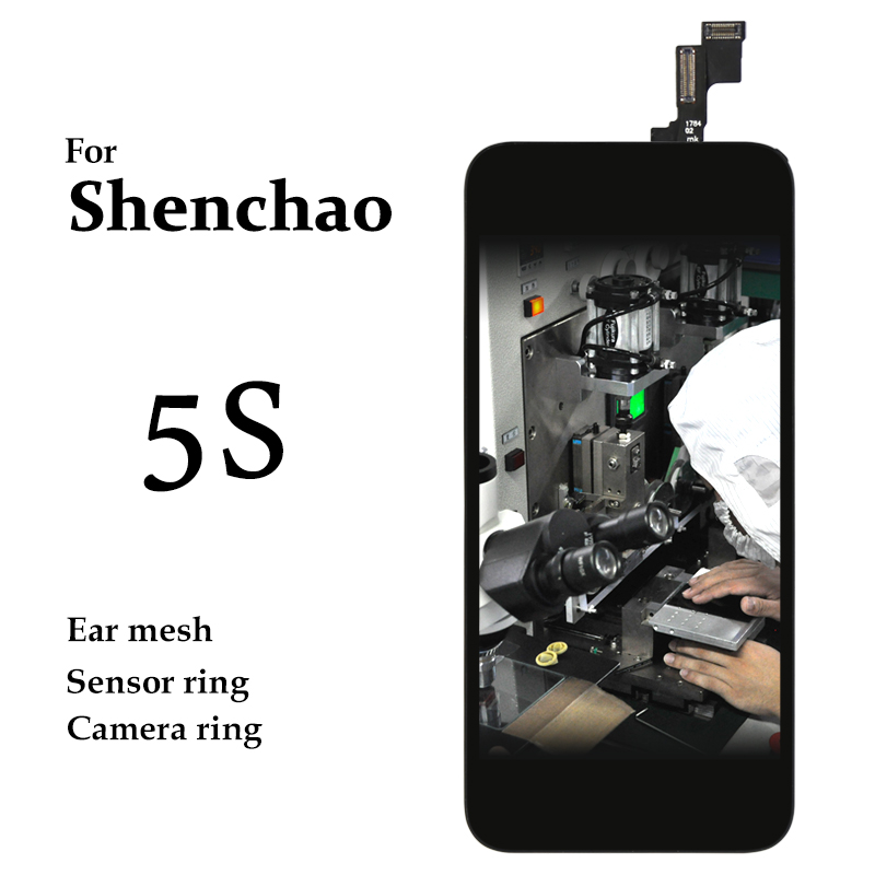 10pcs Mobile Phone Replacement Spare Parts For iPhone 5S LCD Touch Screen Panel 4 Black White No Dead Pixel Display Assembly