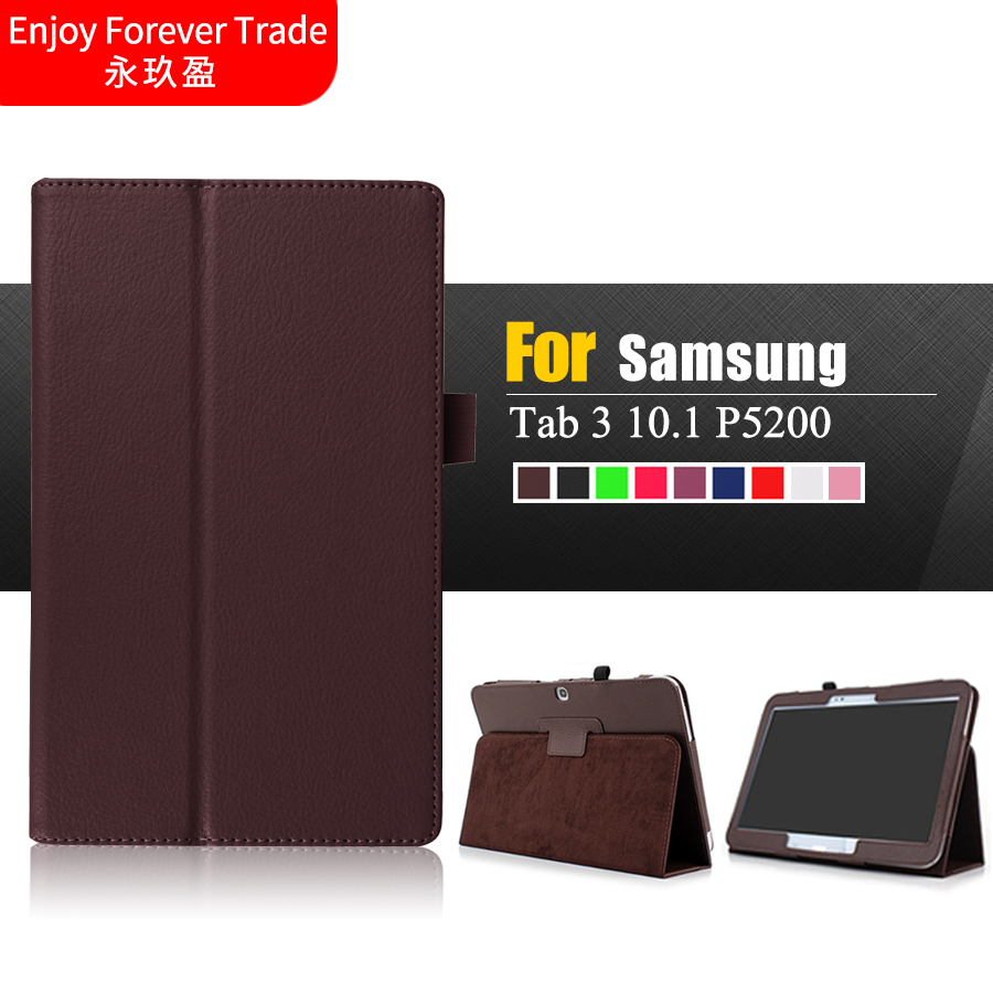 luxury flip stand case for samsung galaxy tab 3 10 1 p5200. Black Bedroom Furniture Sets. Home Design Ideas