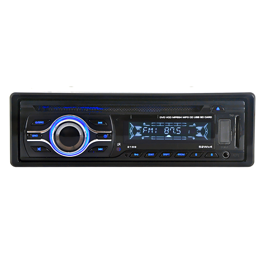 In-Dash Single Din Car Radio Stereo Audio Receiver 12V Car Stereo DVD/CD/Player Radio MP3/USB /SD/TF/AUX/FM support with remote 1 din car stereo radio audio player receiver fm aux cd dvd wma mp3 player usb sd slot detachable panel for sedan suv truck etc