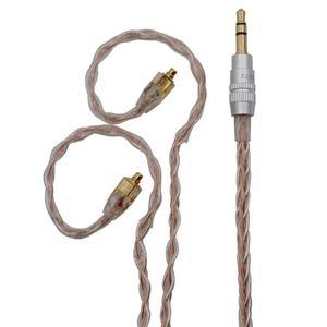 BQEYZ złoty domieszka srebra kolor Upgrade kabel do słuchawek 0.78mm mmcx 3.5mm 2.5mm zbalansowana wtyczka zamiennik dla TFZ KZ TRN BGVP
