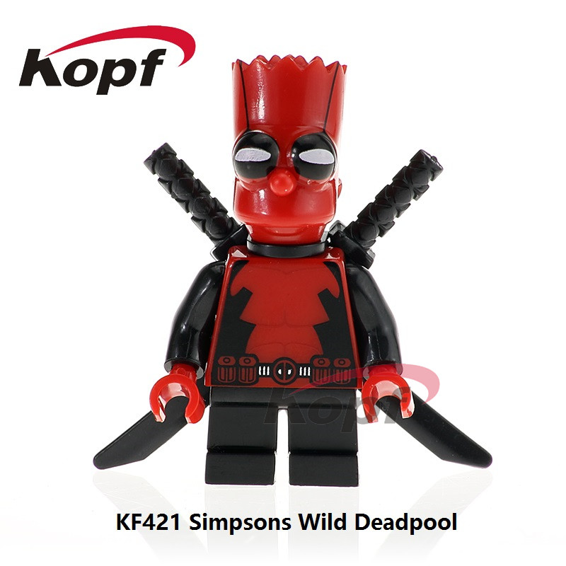 Single Sale Super Heroes Marge Simpson Wild Deadpool Duck Bricks Action Figures Building Blocks Children Toys Gift Model KF421 single sale super heroes wolf black spider girl venom deadpool bricks action figures building blocks children gift toys pg8057