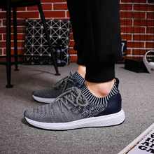 Men Shoes Men Casual Shoes Summer Breathable Lace up Flats Fashion Light Male