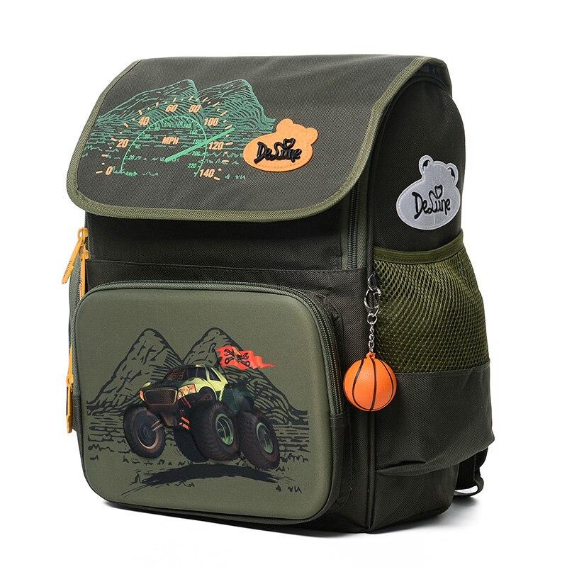 Niños bolsas de escuela muchachos niños 3D mochila ortopédica mochila de dibujos animados Escuela Primaria impermeable Bookbag niños sac enfant-in Carteras escolares from Maletas y bolsas    1