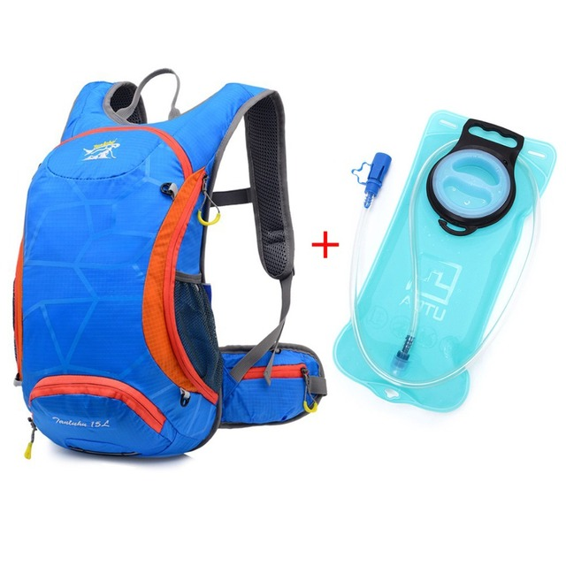 15L Waterproof Bicycle Backpack with water bag MTB Rucksacks Riding Backpack Ride pack mochila male travel Bag