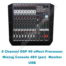 MICWL 8 Channel Dual Group Stage Performance DJ Karaoke Audio Sound Microphone Mixing Console Desk Mixer