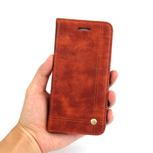 2017 Promotion Luxury Brand Genuine Wallet Phone Cases Cover For Samsung Galaxy S7 / For Edge Card Holder Fur With Kickstand