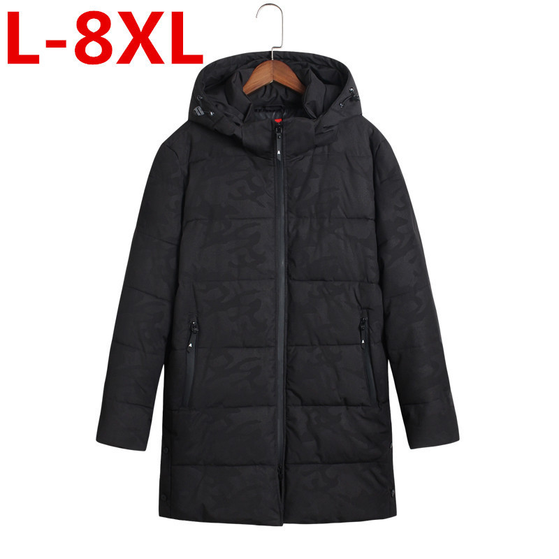2017 new plus size 8XL7XL Men Fashion Cotton Padded Jacket Winter Autumn Polyester Coat Camouflage European Size dunlop winter maxx sj8 245 65 r17 107r