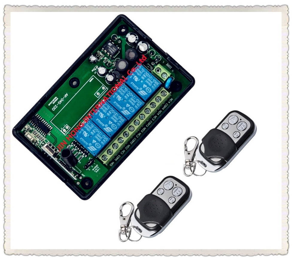 AC 85V 110V 220V 250V 4CH RF Wireless Remote Control System Radio Wireless Lighting Switch 315Mhz/433Mhz Receiver Transmitter 4ch on off relay switch dc12v 4ch rf wireless remote control switch system 315mhz 433mhz transmitter and receiver