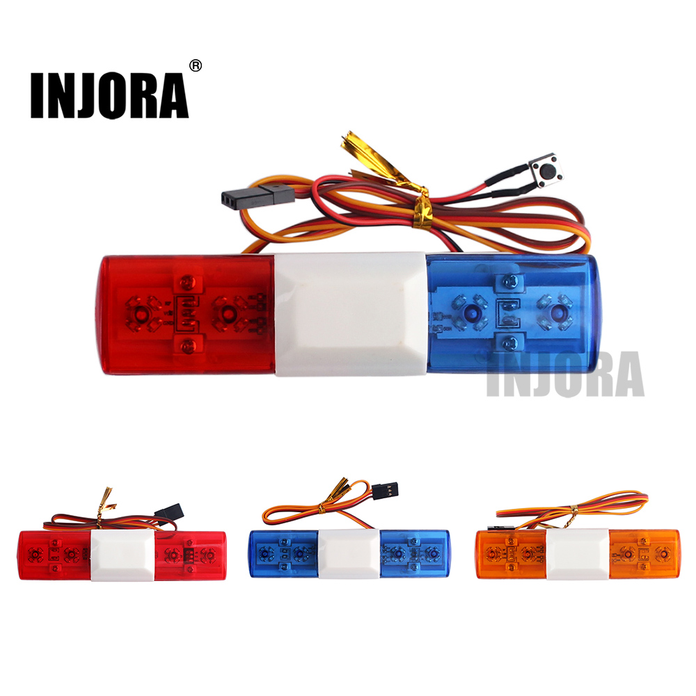 RC Car Accessories Led Police Flash Light Alarming Light For 1/10 HSP Kyosho Traxxas Tamiya Axial SCX10 D90 RC Car Parts