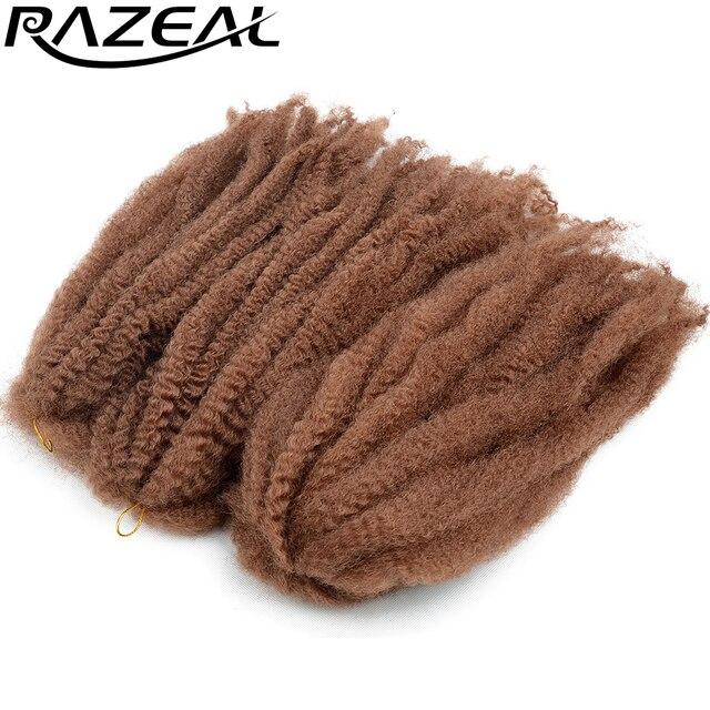 Razeal 100g Afro Kinky Marley Braid Hair Crochet Braids Synthetic Braiding Hair Extension High Temperature Fiber