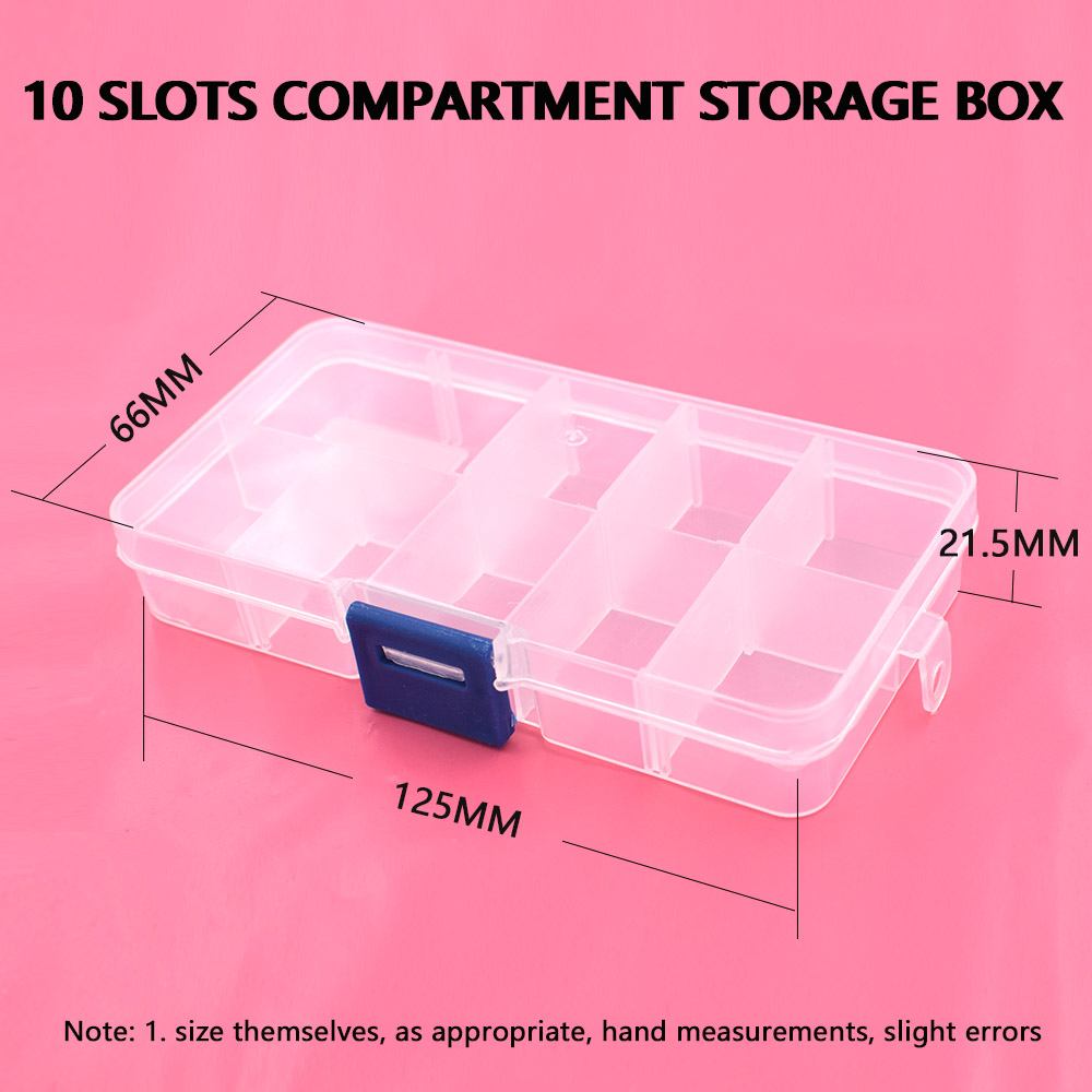 Image 5 - 5pcs buttons eyelets storage Adjustable Plastic 10/15 Compartment Storage Box Jewelry Earring Bin Case Container Storage Boxes-in DIY Apparel & Needlework Storage from Home & Garden
