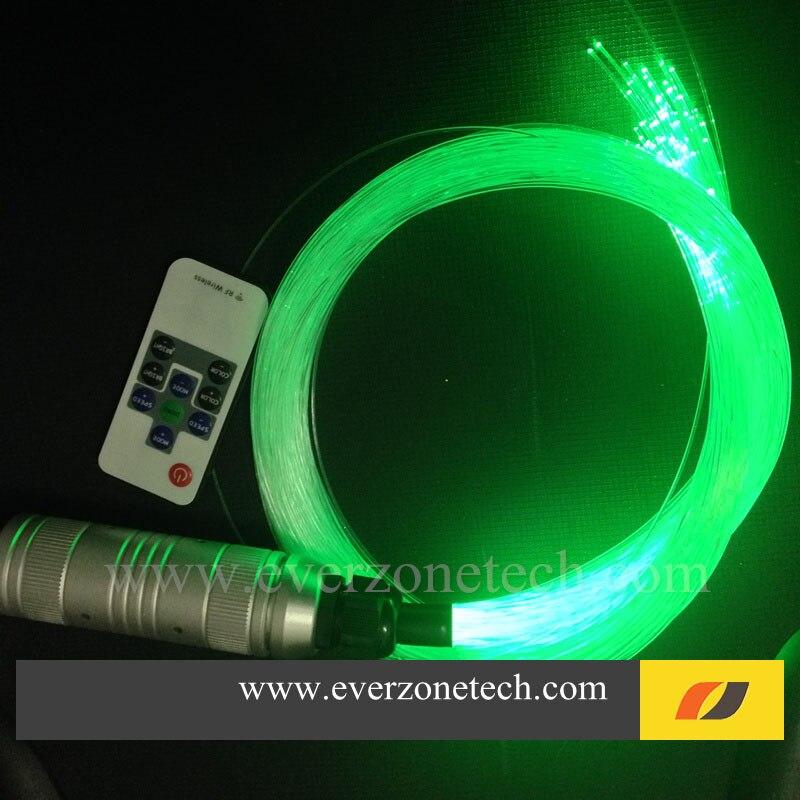 Torch Style RGB LED Fiber Optic Star Ceiling Kit Light 2m 150pcs (0.75mm 120pcs;1.0mm30pcs) 5pcs crystal end fittings+RF Remote 2016 new 16w rgb led fiber optic ceiling light kit 24key remote 300pcs 0 75mm 2m fiber cable