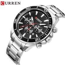 CURREN Top Brand Men Watches Luxury New Business Quartz Wristwatch Mans Waterproof Stainless Steel Chronograph Watch