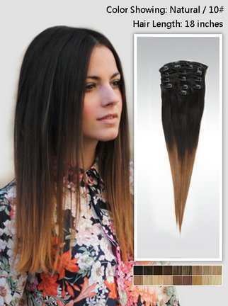 18 Inch Ashlee Simpson Dark Ombre Hair Straight Two Tone Indian