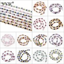 6mm Natural Colorful Baroque Shape Fashion Freshwater Loose Pearl Beads Necklace Bracelat Jewelry Making DIY Pearl Loose Beads
