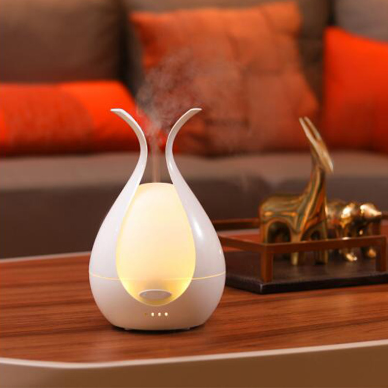 Creative Flower Bud Aroma Diffuser Air Humidifier Household Bedroom Air-conditioned Room Aromatherapy Essential Oil Diffuser floor style humidifier home mute air conditioning bedroom high capacity wetness creative air aromatherapy machine fog volume