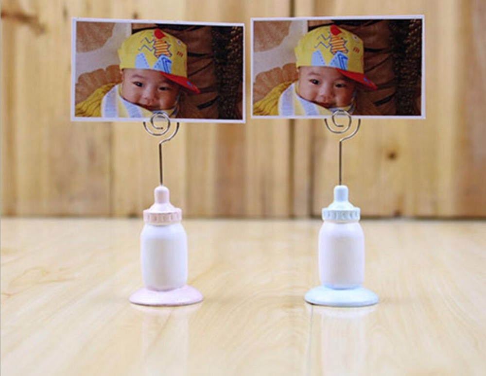 20pcs Feeding bottle Nipple Name Number Menu Table Place Card Holder Clip Wedding Baby Shower Party Reception Favor