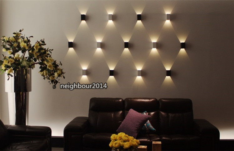 Aliexpresscom Buy New Modern 3W LED Square Wall Lamp Hall Porch
