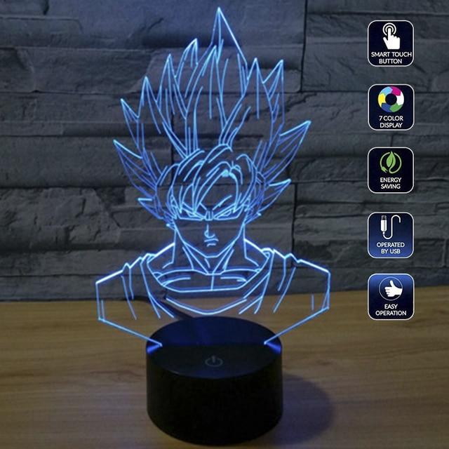Dragon Ball Z Freezer VS Gokou 3D Night Lamp